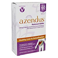 Azendus Natural SAM-e for Liver Health 60 Count, 400mg, 1 Recommended Form, Pure...