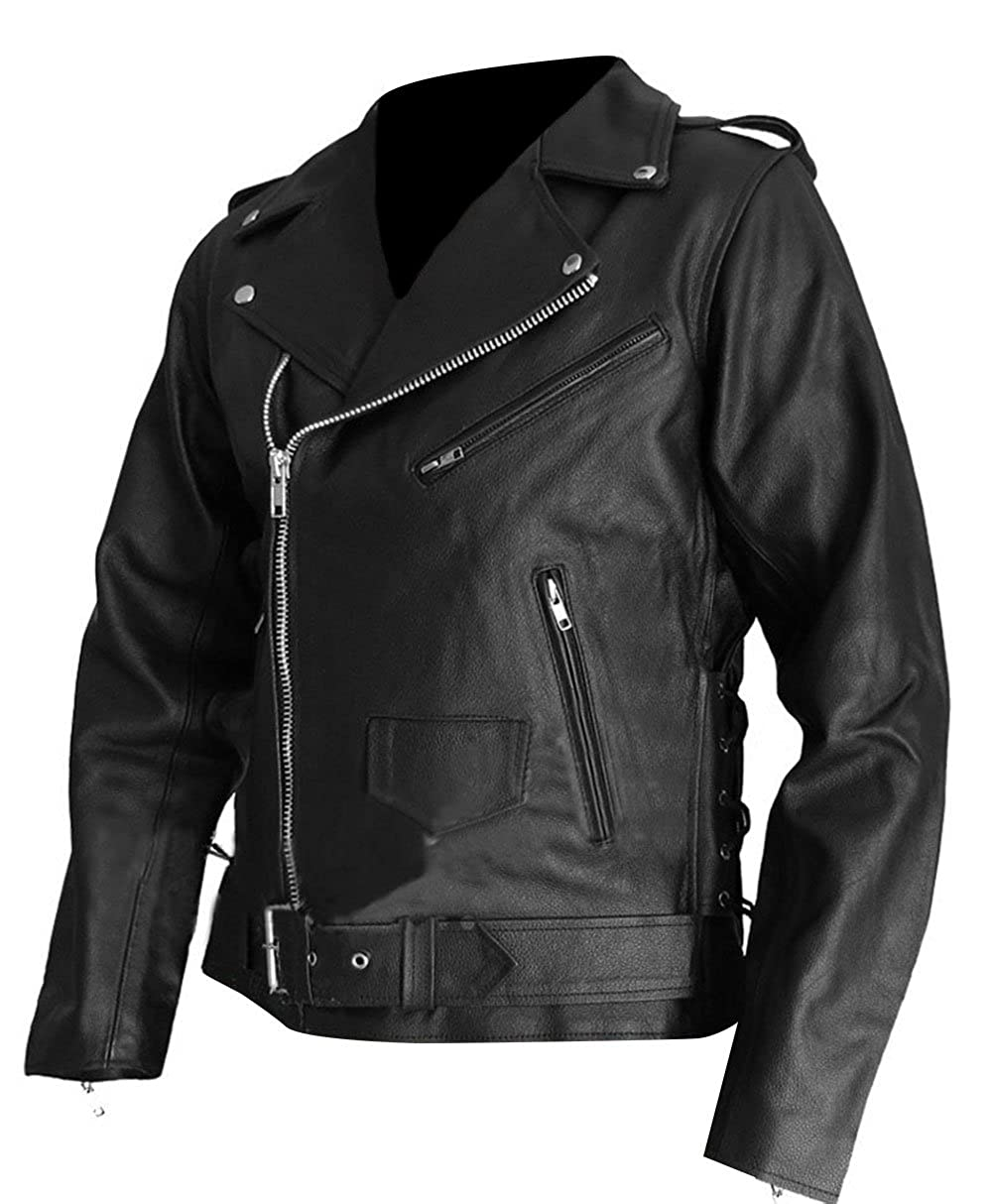 The Sparks Up Inc. Terminator 2 Judgment Day Arnold Stylish Real Leather Biker Jacket