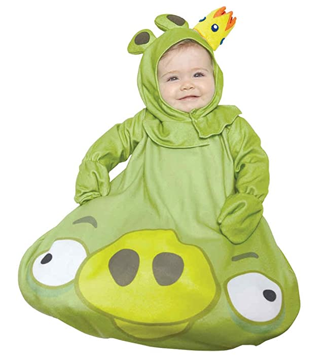 amazoncom uhc babys rovio angry bird green king pig outfit infant halloween costume os 0 9m clothing
