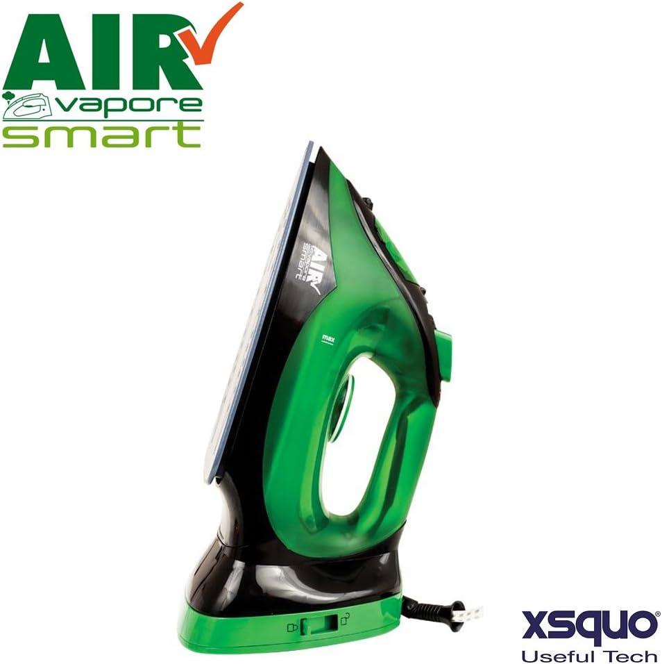 Plancha inalámbrica con placa de cerámica antiadherente de 2200 vatios - sin cable multiusos 2 en 1 con termostato, control de vapor y sistema de autolimpieza anti caliza