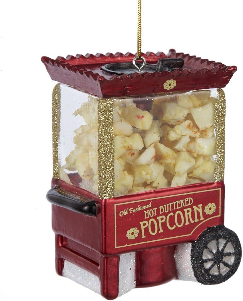 Noble Gems Popcorn Machine Ornament, 3.25-Inch