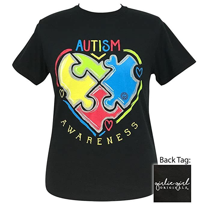 2f06b626b91 Girlie Girl Autism Awareness Short Sleeve T-Shirt Adult at Amazon ...