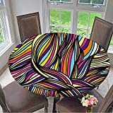 kitchen 67 birthday Mikihome Round Tablecloth Set of Wave Patterns .Seamless Pattern can be Used for Wallpaper Pattern for Kitchen 67