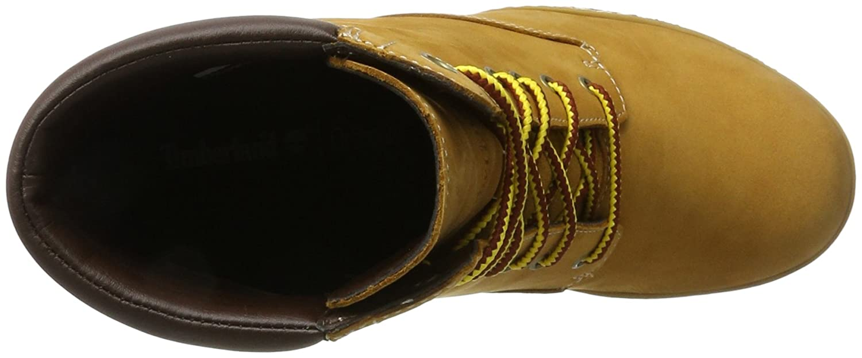 Timberland Damen Tillston 6 Inch Double Collar Stiefel, Gelb (Wheat)