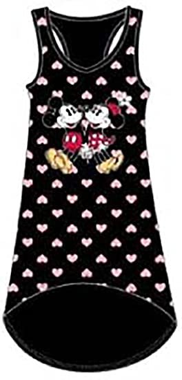 df21be963d Image Unavailable. Image not available for. Color  Disney Mickey   Minnie  Mouse HEARTS Womens Pajama Tank Top Nightie ...