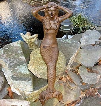 Amazon Com Extra Large Iron Mermaid Statue Outdoor Statues