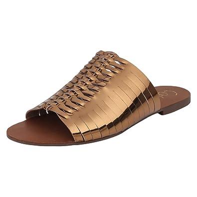 74c5bcfac7 Catwalk Women's Bronze Flat Slip On Espadrille 4 UK/India (36 EU) (