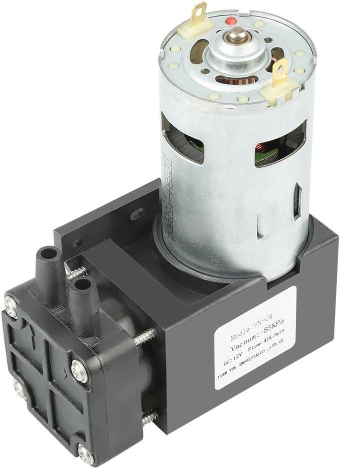 1 St/ück DC12V 42W Mini kleine /ölfreie Vakuumpumpe 85KPa Durchfluss 40L//min Mootea Vakuumpumpe