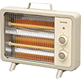 アイリスオーヤマ 電気ストーブ 遠赤外線タイプ コンパクト レトロ アイボリー EHT-800D-C