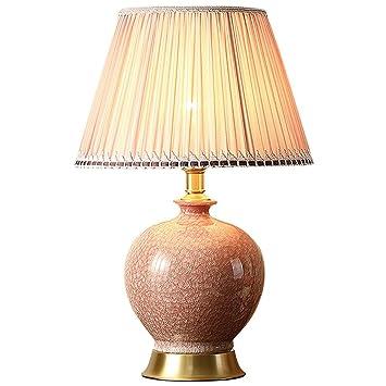 Halori Lampe De Table Rose Ceramique Lampe De Chevet Pour Le