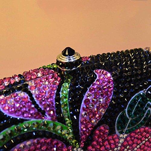 Vestido Noche Bolso Diamantes Multi De De Damas De Hombro fzXqFF