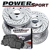 2009 pontiac g8 brake rotors - [FULL KIT] PowerSport Cross Drilled Brake Rotors + Ceramic Pads BLXC.62120.02