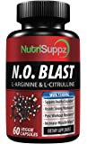 N.O BLAST - Nitric Oxide Supplement - Muscle Building Pre & Post Workout Recovery Formula - Blood Circulation & Heart Health | L Arginine, L-Citrulline, Beta Alanine, L-Citrulline Malate | MADE IN USA