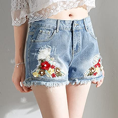 YYJZJW Señora Shorts Sra. Shorts Falda Corta Flores Pantalones ...