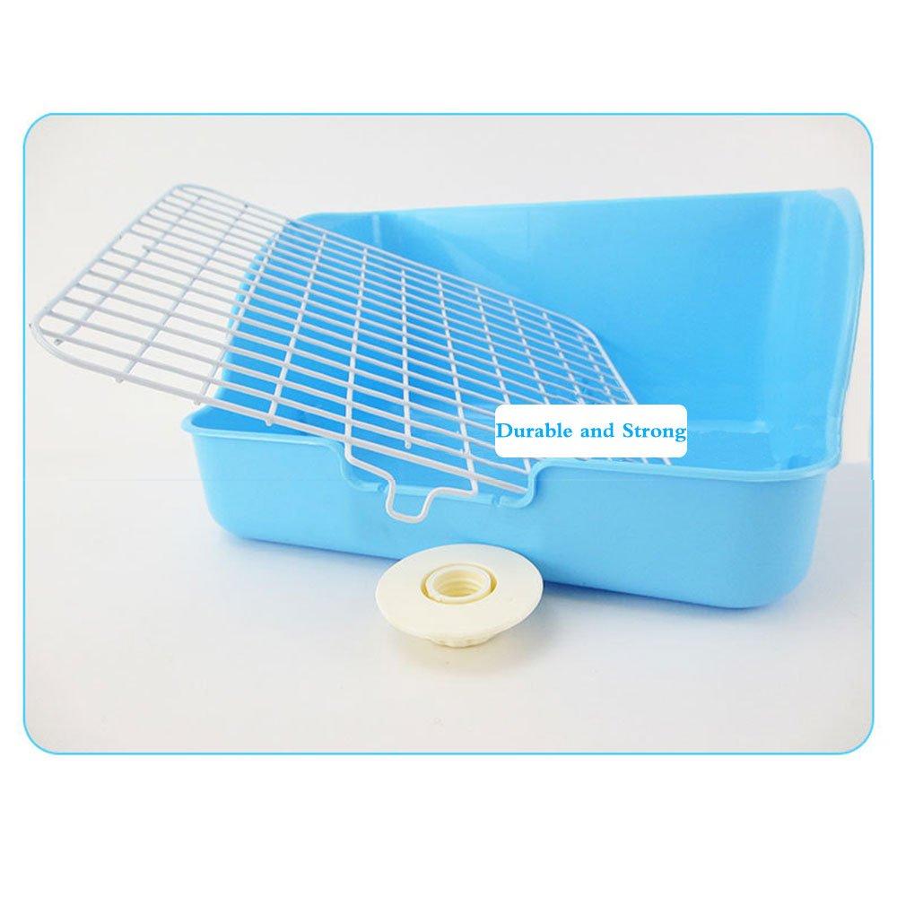 HongYH Pet Small Rat Toilet, Square Potty Trainer Corner Litter Bedding Box Pet Pan for Small Animal/rabbit/guinea Pig/galesaur/ferret(Grey) by HongYH (Image #3)