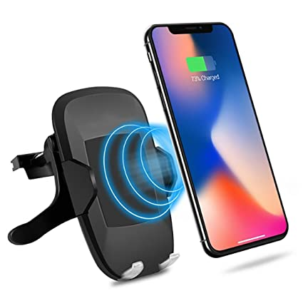 Galaxy Note 9//S9//S8//Note 8//S7//Note 5 usw. Kabelloses Autoladeger/ät f/ür iPhone XR//XS//XS Max//X//8//8Plus Qi Auto Handyhalterung CHOETECH Wireless Charger Auto L/üftung Kfz Induktive Ladestation