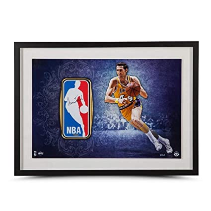 15d020f1beb Jerry West Signed Autographed Framed Logo Man Patch 16X24 Photo Lakers #/44  UDA