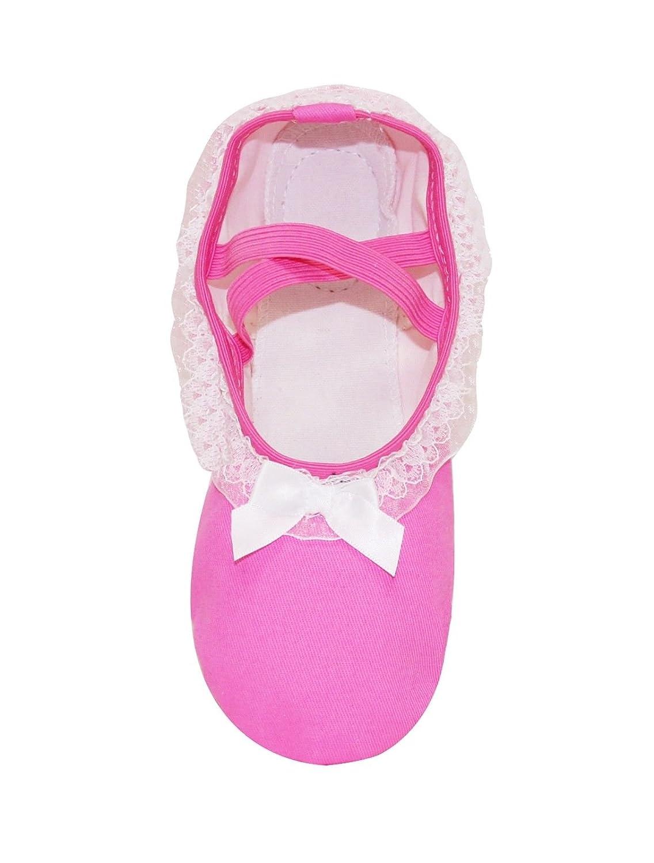 130041 DSK-01//02 Ballet Slippers Dance Shoes for Girls Canvas Leather Split Sole Ballerina Flats
