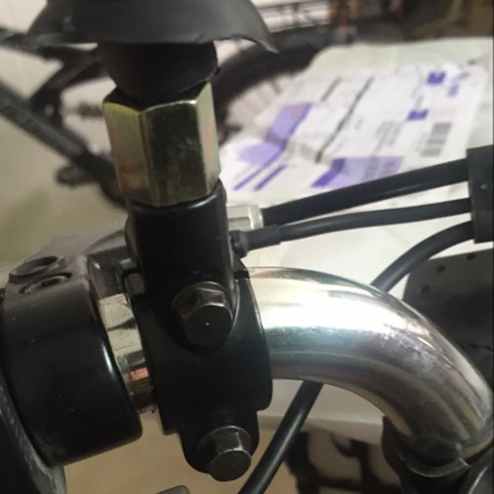 TUINCYN Motorbike 10mm Handlebar Mirror Mount Accessories Black Motorcycle Handlebar Rearview Side Mirrors Adapter Holder Clamp 2pcs