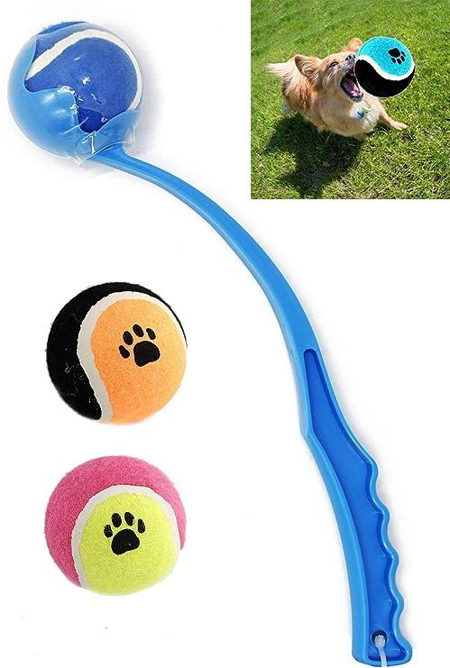 BPS Juguete Interactivo Lanzador de Pelotas para Perros Mascotas ...