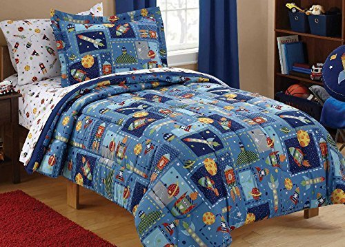 - Luxlen Kids Bed in a Bag - BIAB (Twin, Space),