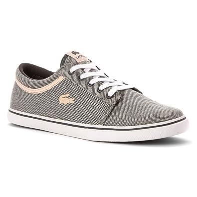 Lacoste Women's Vaultstar Sleek PQ Sneaker Dark Grey/Light Pink ...