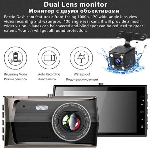 SDRFSWE Lente Dual Grabadora De Conducción Cámara Coche DVR Visión ...