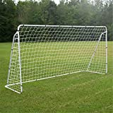 F2C Football Post Soccer Goal Target Net 12′ x 6'/ 6′ x 4′ Tournament AYSO Regulation FIFA/MLS Training Aid Ultimate Backyard Outdoor Kids Official Soccer Goal, Steel Post Frame (12′ x 6′ White)