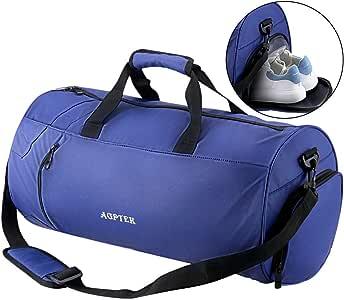 AGPTEK Bolsa Deporte y Viaje para Mujer y Hombre con Compartimento de Zapatos y Bolsillo Impermeable,Bolsa de Playa de Multibolsos,Multiuso como