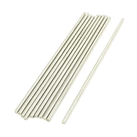 Sourcingmap A13090200UX0053 Round Rod - Pack de 10 varillas ...