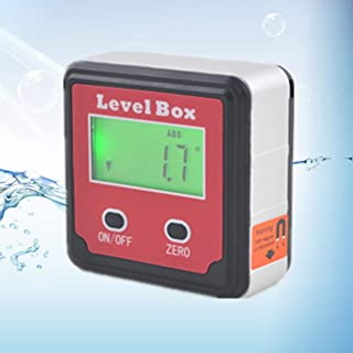 Tivolii Precision Digital Inclinometer Electron Goniometers 360 Degree Magnetic Base Digital Protractor Angle Finder Bevel Box