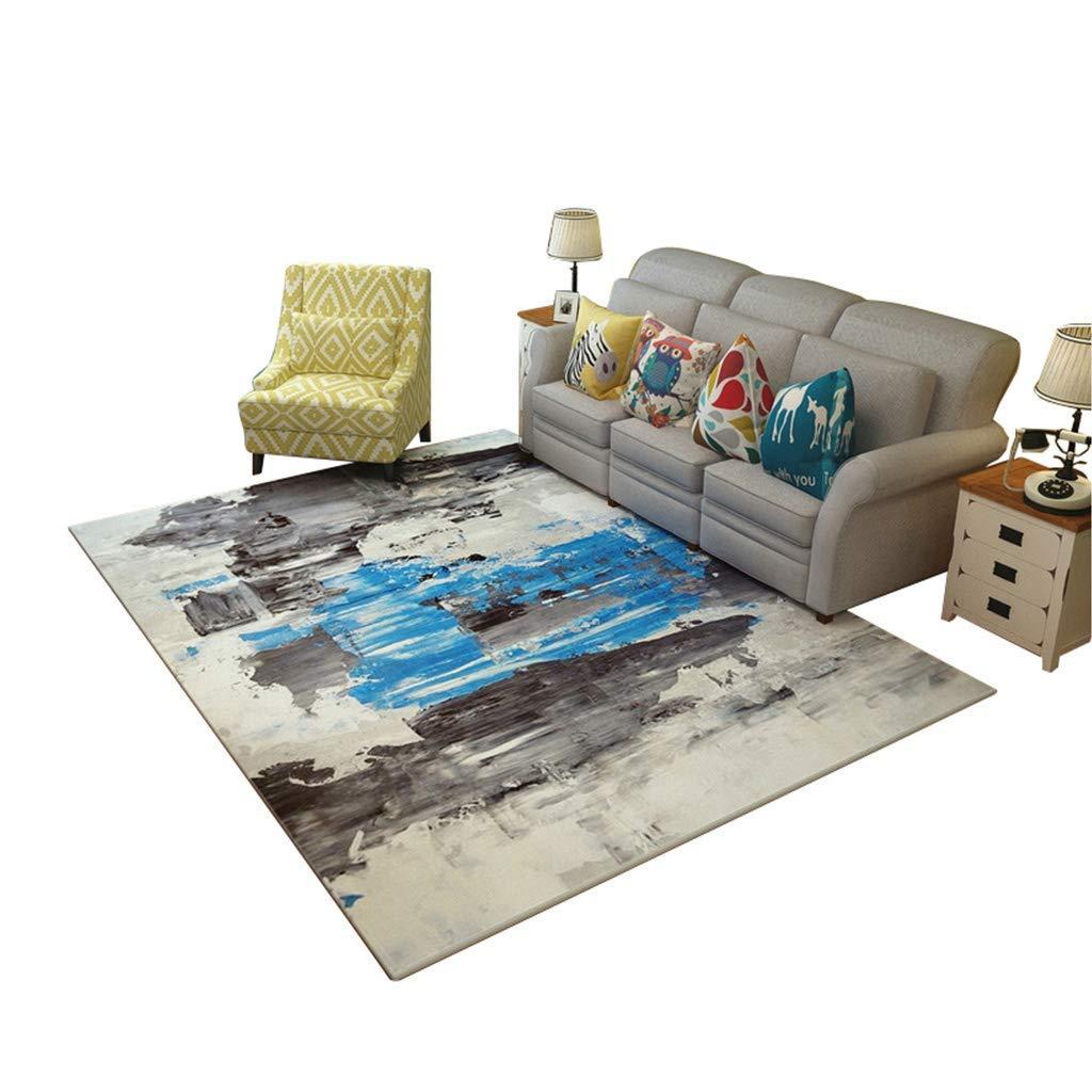 現代の敷物、リビングルームのソファーのための現代のミニマリストスタイルのコーヒーテーブルの敷物コンピュータチェアクリエイティブアート北欧寝室ベッドサイドカーペット付き抽象模様(サイズ:180×280cm) AI LI WEI (サイズ さいず : 180×280cm) 180×280cm  B07RLJF921