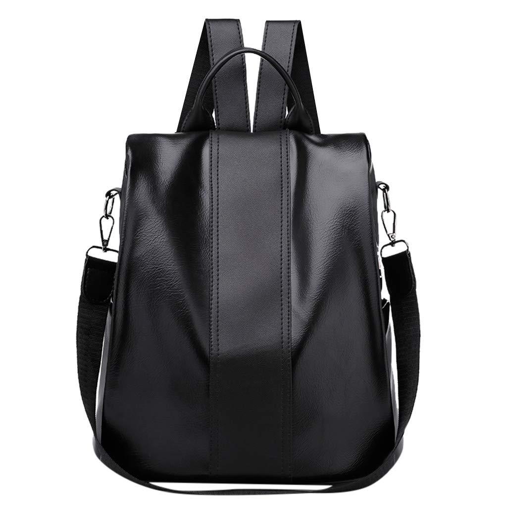 DDKK bags Women Waterproof Nylon Anti-Theft Pu Leather Wild Lightweight Business Computer Backpack-Fashion Rucksack Shoulder School Bag by DDKK bags