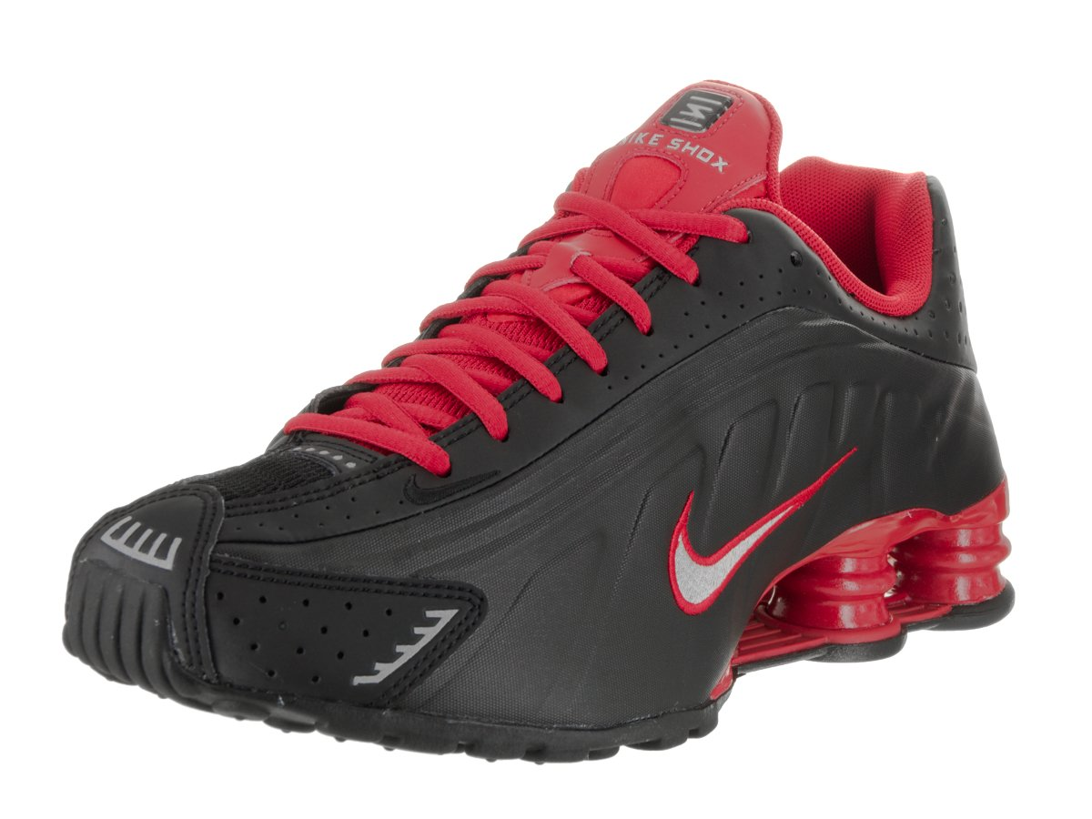 huge discount fa259 6edb9 ... low cost fashionable nike men shox r4 running shoe black metallic  silver university red black 7a94b