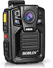 Body Worn Camera with Audio, BOBLOV 1926P Police Body Cameras for Law Enforcement, Security Guard, Waterproof Body Mounted Cam DVR Video IR with Night Vision, 170° Wide Angle 【Built in 128GB】