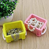 Storage Bins /Boxes Organizer- 6pc, Candy-colored smiley Storage Box jewelry accessories plastic debris sorting box packaging