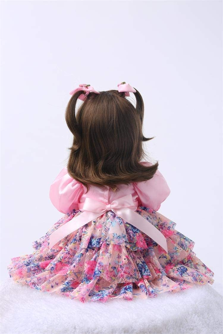NPKPINK Reborn Toddler Dolls Girl 24 Real Life Toddler Princess Doll Soft Silicone Vinyl Handmade Weighted Body