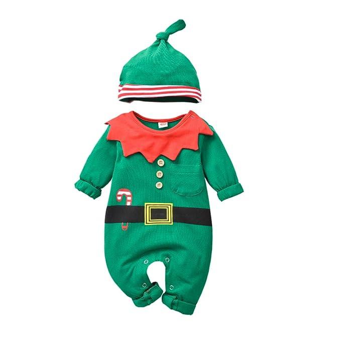 Amazon.com: Disfraz de elfo para bebé de Navidad, pijama ...