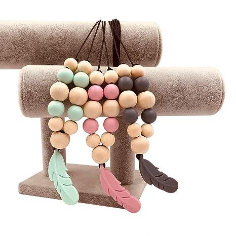 NaiCasy 3pcs lápiz Dental Chew Collar de Perlas para Mujeres ...