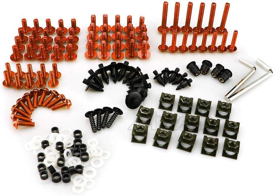 Color : Black LIWIN Motorradzubeh/ör Motorrad Verkleidung Schrauben Schraube Mutter Clip Kit Karosserie for KTM Duke RC 125 200 250 390 690 790 990 1190 1290 ADV Enduro RC8 2020