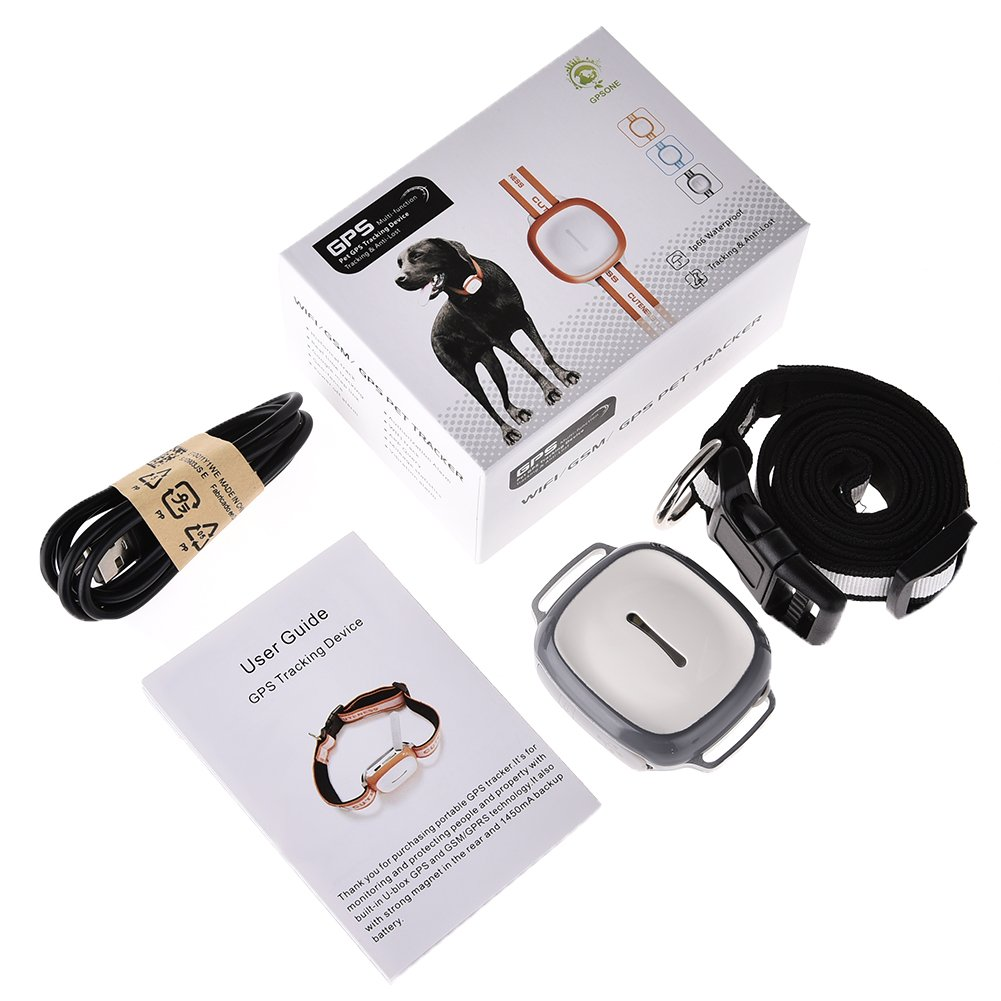 GPS Pet Tracker, Yunt GPS Monitoring with LED Light and Collar Smart Tracking Mini Waterproof for Dogs Cats by Yunt (Image #4)