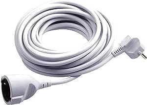 Meister Veiligheidscontact-Verlenging 5 M Kabel, Wit