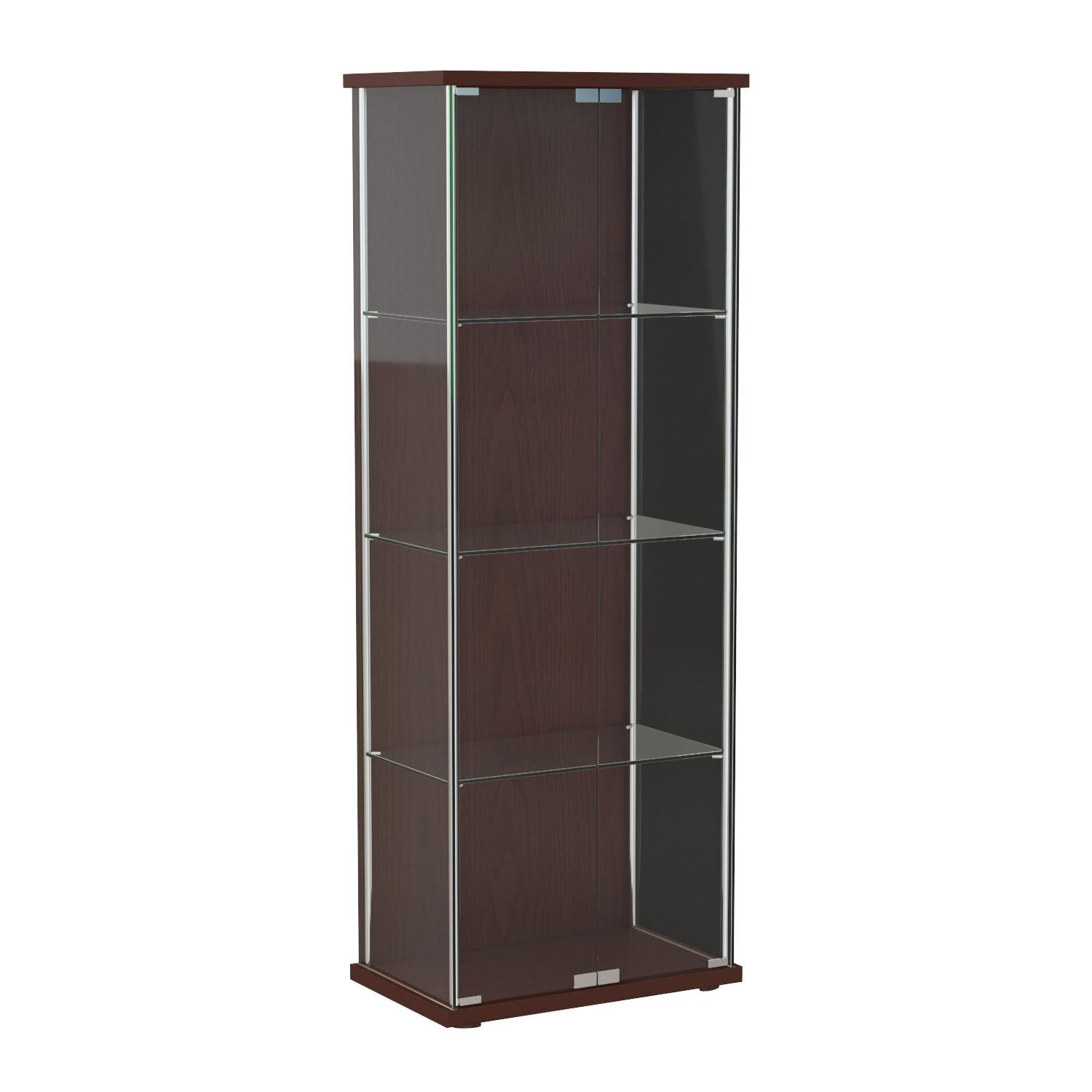 Coaster Home Furnishings Contemporary Curio Cabinet, Cappuccino by Coaster Home Furnishings