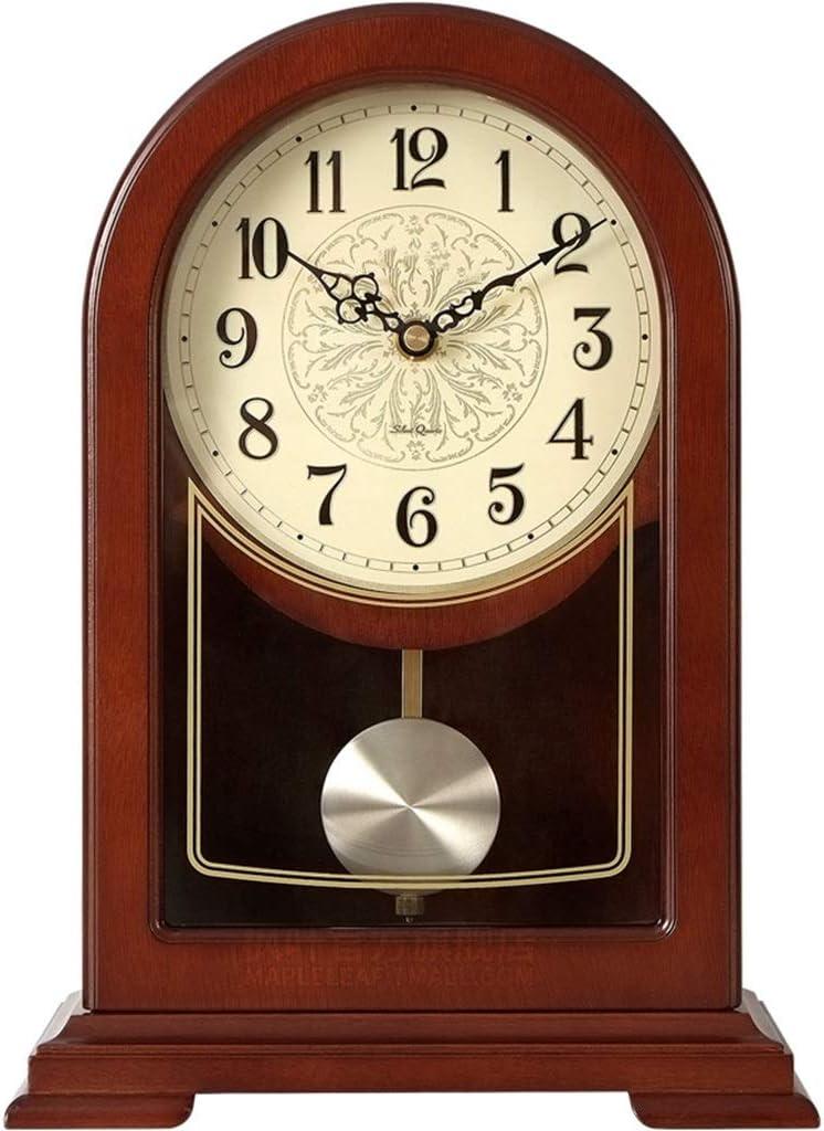 Desk Clock Table Clocks for Living Room Decor Vintage Desk Clocks Battery Operated Retro Bedroom Home Decorative Non-Ticking Silent Quartz Alarm Clock