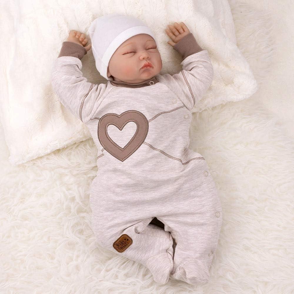 62 3 Monate Baby Sweets Unisex Baby Strampler f/ür M/ädchen und Jungen//Baby-Overall in Braun Beige als Schlafanzug und Babystrampler im Herz-Motiv f/ür Neugeborene und Kleinkinder in der Gr/ö/ße