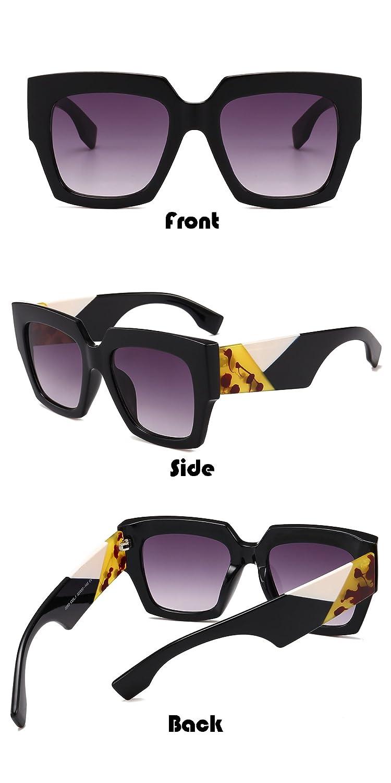 Amazon.com: Gobiger - Gafas de sol cuadradas de gran tamaño ...