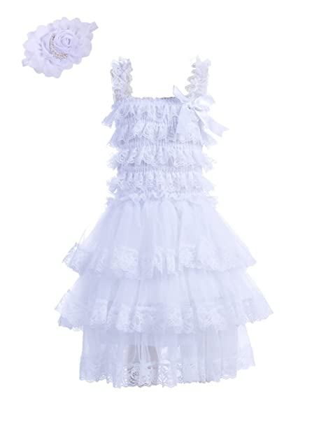 fd297388a Amazon.com  Zcaynger Baby Girls Princess Dress with Pearl Headband 3 ...