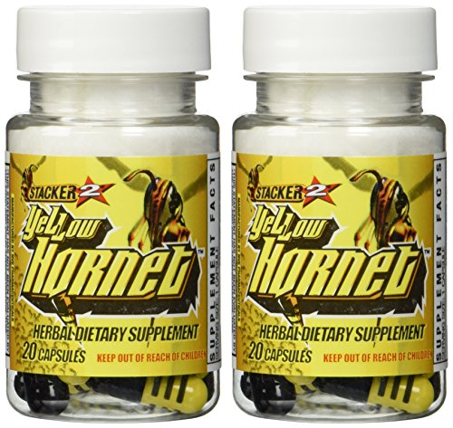 Stacker 2 Yellow Hornet Ephedra Free - 2 Bottles - 40 Capsules
