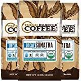 Sumatra Decaf Organic Fair Trade Coffee, Whole Bean, Mountain Water Processed Decaf Coffee, Fresh Roasted Coffee LLC. (Pack of 3)