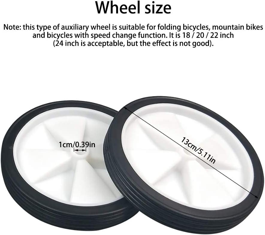 22 inch Variable Speed Bikes Mountain Bike Bicycle Auxiliary Wheels Childs Bike Training Wheels Adjustable Suitable for 18 inch 20 inch DONGKER Bike Wheel Stabiliser